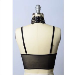 Intimates & Sleepwear - Sexy Eyelash Longline Bralette in Black